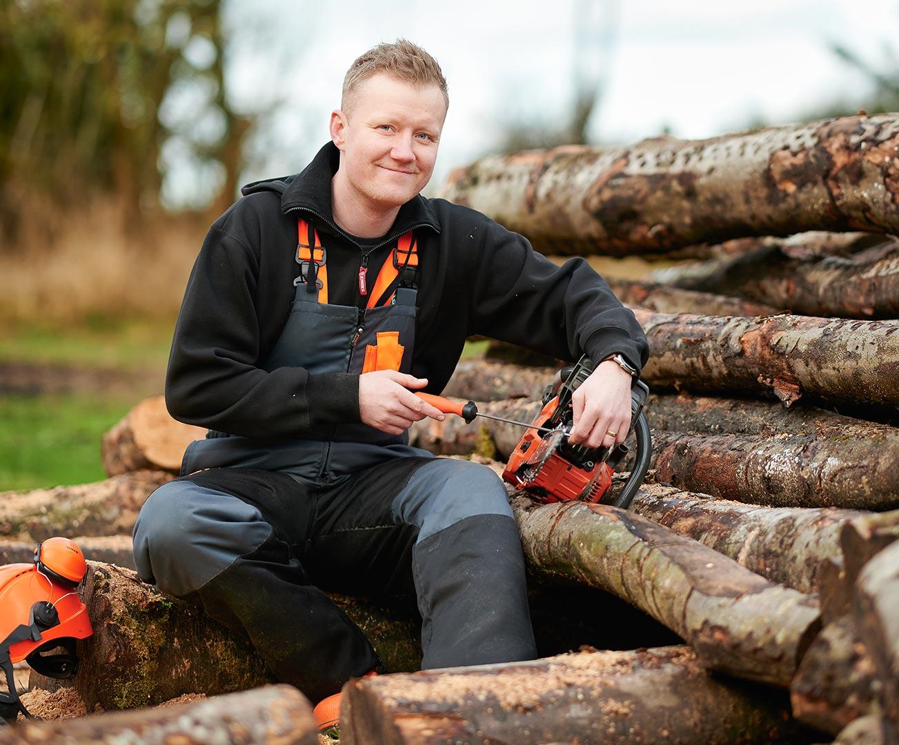 Pædagog arbejder hos Thy Skovservice, Elmelund